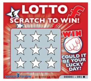 Lottery scratch card