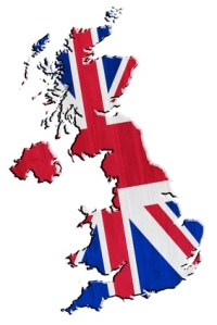 UK with Union Jack