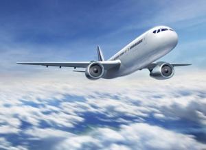 Flugzeug fliegend